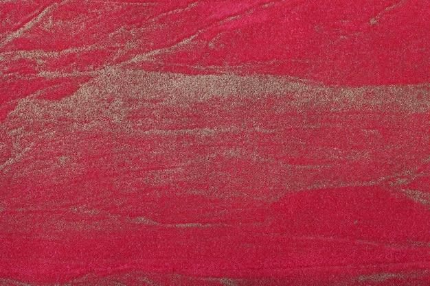 Art abstrait fond rouge foncé avec la couleur d'or