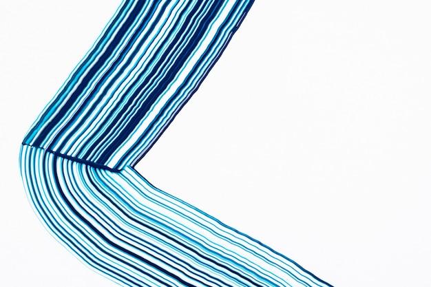 Art abstrait de motif ondulé bleu cool fond texturé