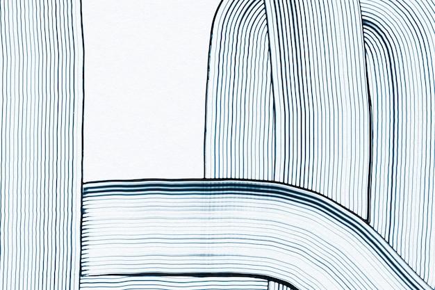Art abstrait de motif ondulé bleu texturé