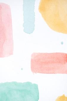 Art aquarelle unique sur la texture du papier