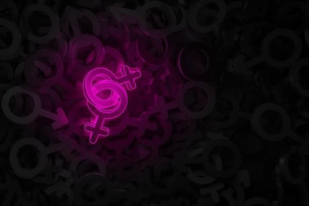 Art conceptuel sur le thème de l'illustration 3d de l'amour homosexuel
