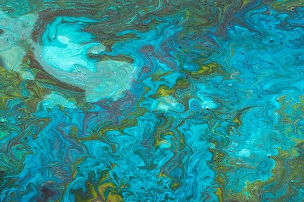 Art contemporain acrylique bleu rivière