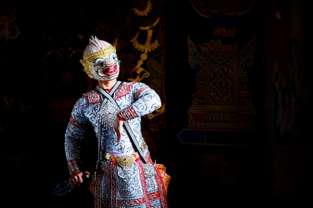 Art culture thailand danse dans un khon masqué dans la littérature ramayana