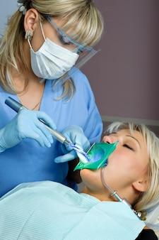 Art dentaire, arrêt de la cavité dentaire