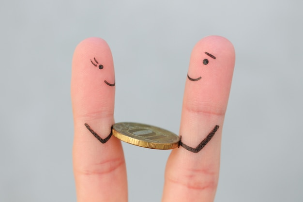 L'art des doigts des gens heureux