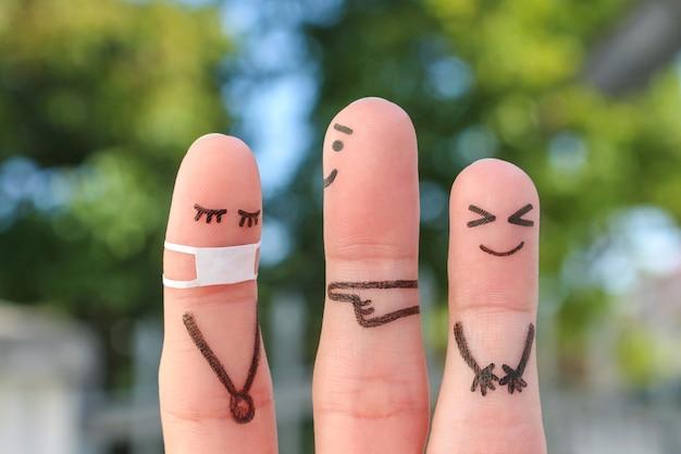 Art du doigt des gens