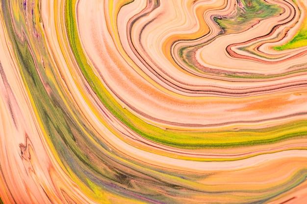 Art expérimental de bricolage de fond vert de tourbillon de marbre abstrait