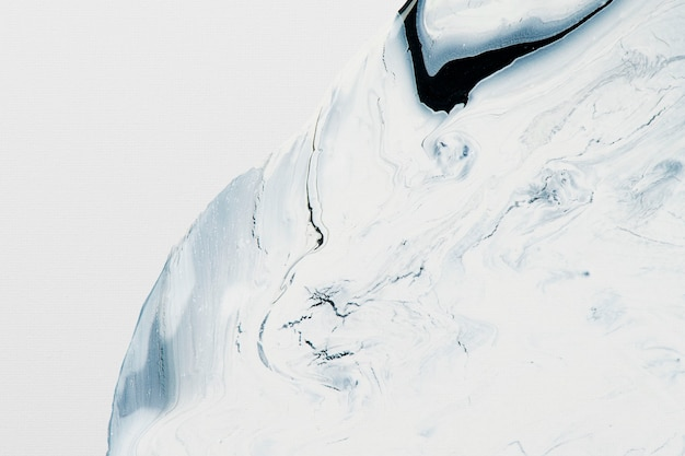 Art expérimental fait main de fond blanc de marbre liquide abstrait