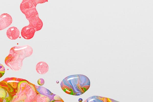 Art expérimental de texture fluide à la main de fond de tourbillon de marbre rose