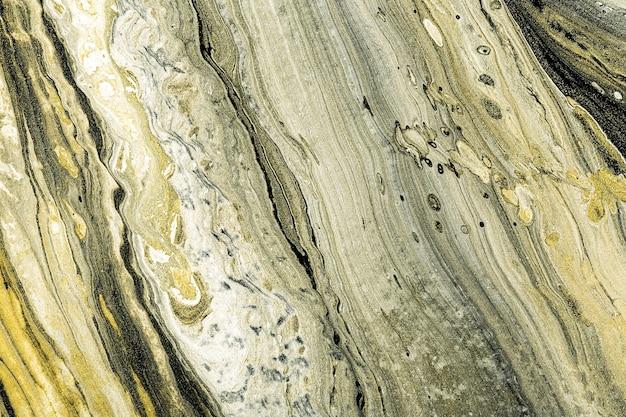 Art fluide acrylique. textures de marbre liquide noir, blanc et or