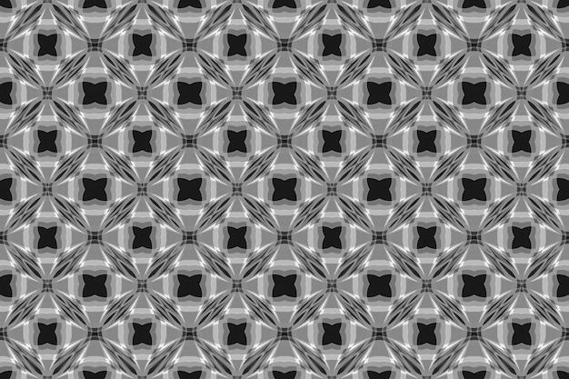 Art Moderne Motif Géométrique Sans Soudure Noir Pour Fond De Tissu Ou De Texture De Mur. Photo Premium