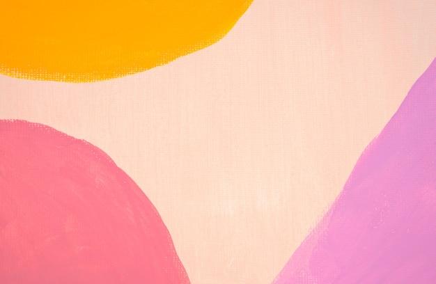 Art mural boho abstrait peint à la main à la main, œuvre d'art minimaliste moderne scandinave