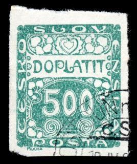 Art nouveau timbre vert