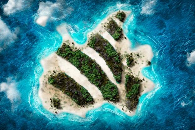 Art numérique d'une île
