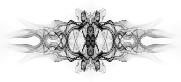 Art de résumé de fumée noire sur fond blanc. conception du feu