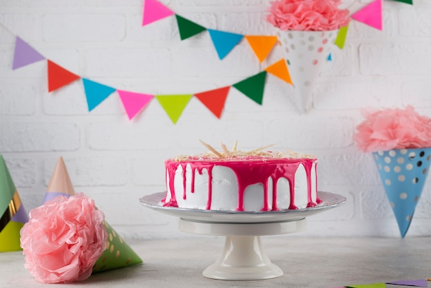 Articles de fête d'anniversaire et gâteau