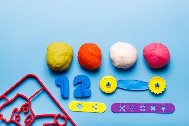 Articles de pâte à modeler montessory play les enfants jouent