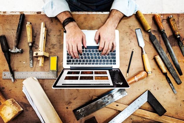 Artisan profession profession pursuit concept qualifié