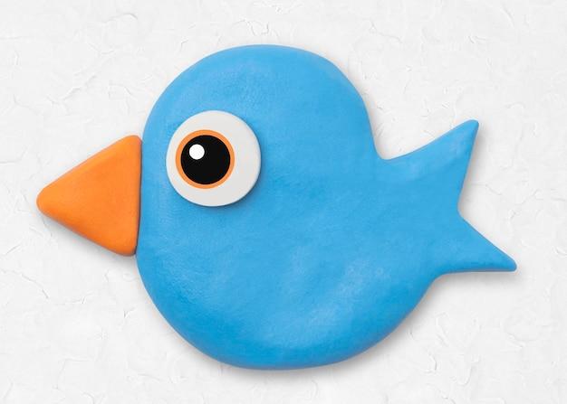 Artisanat créatif de caractère coloré d'argile animale d'oiseau mignon pour des enfants