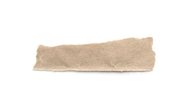 Artisanat en papier recyclé coller sur un fond blanc.