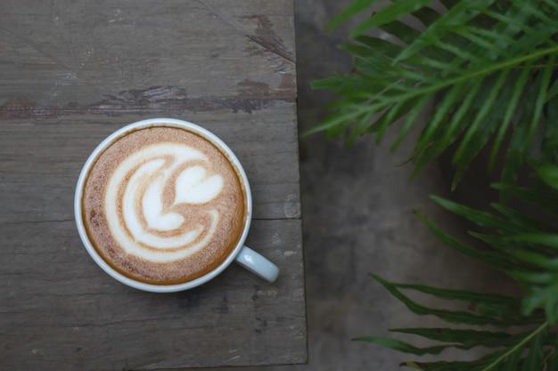 Artisanat de tasse de café au lait chaud, stock photo