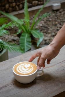 Artisanat de tasse de café au lait chaud