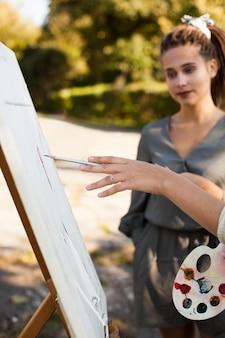 Artistes femmes en plein air
