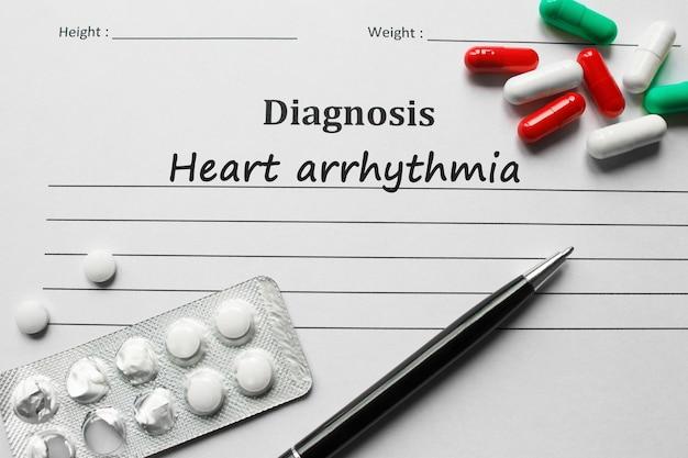 Arythmie cardiaque sur la liste de diagnostic