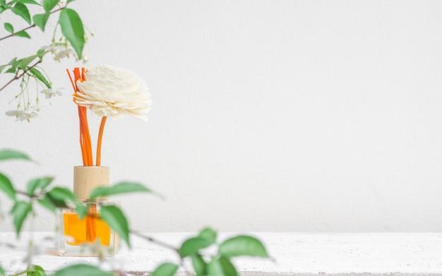 Assainisseur aromatique de roseaux, diffuseur de parfum set de bouteille avec des bâtons d'arôme