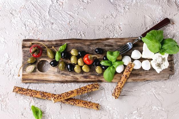 Assiette apéritif méditerranéenne