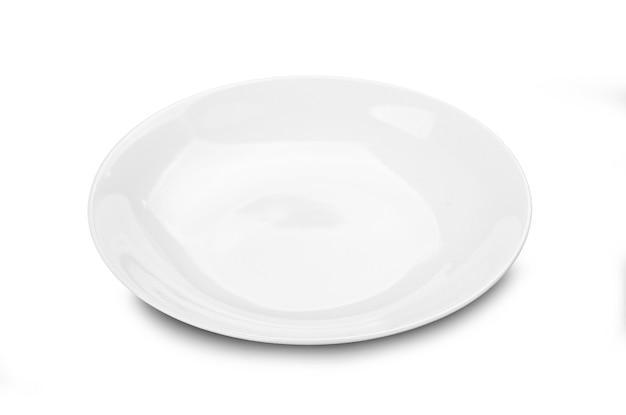 Assiette blanche isolée