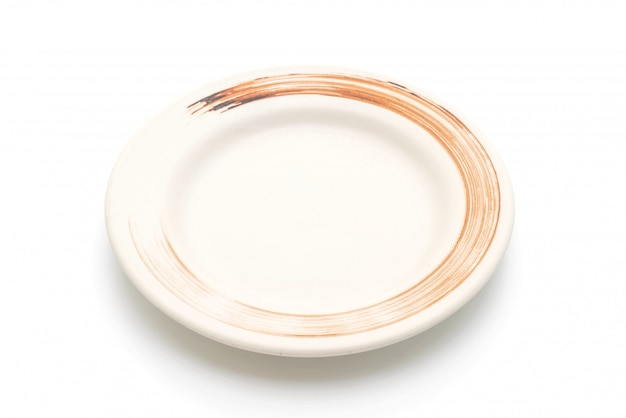 Assiette et bol isolé sur blanc
