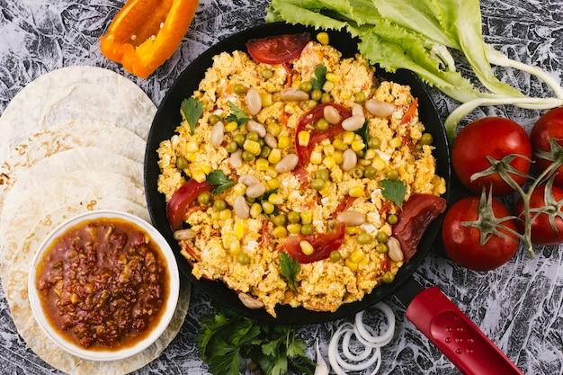 Assiette épicée mexicaine