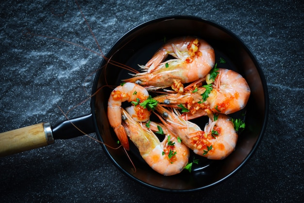 Assiette de fruits de mer aux crevettes