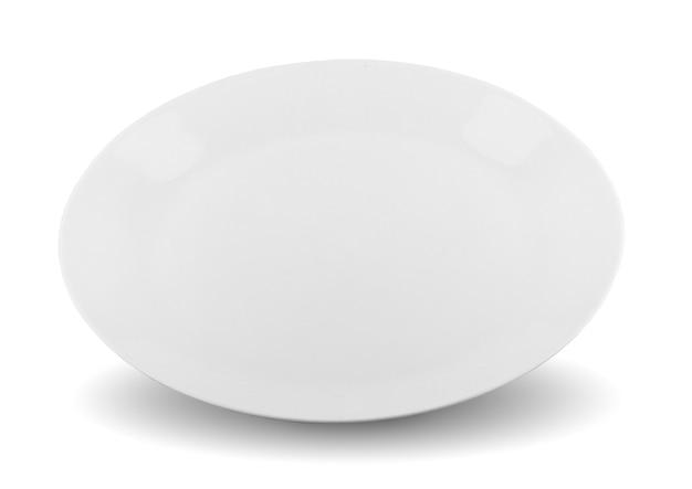 Assiette isolée sur fond blanc