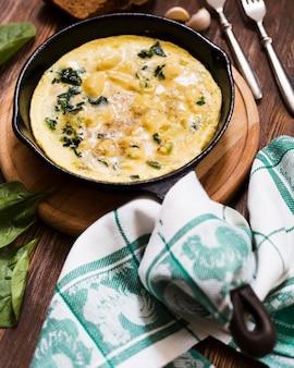 Assiette avec omlette