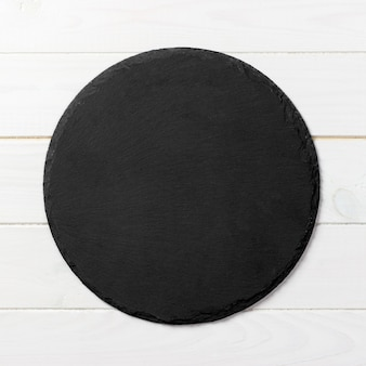 Assiette ronde noire
