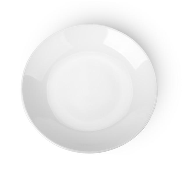 Assiette vide. isolé sur blanc