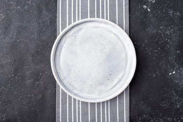 Assiette vide. vue de dessus