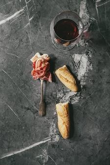 Assorti de viande sur fourchette