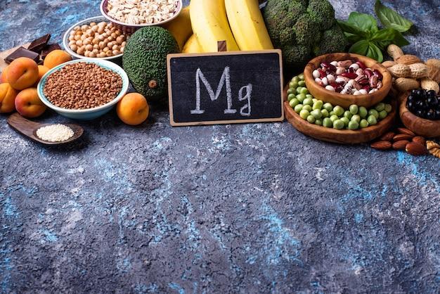 Assortiment d'aliments contenant du magnésium