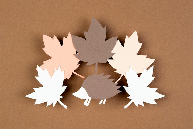 Assortiment d'automne en style papier