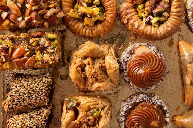 Assortiment de baklava dessert ramadan