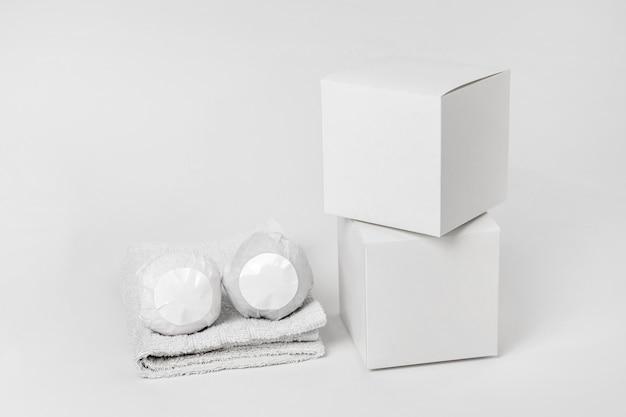 Assortiment de bombes de bain emballées