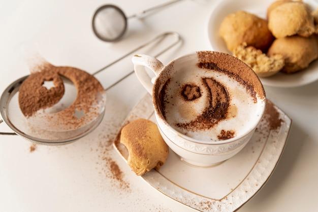 Assortiment de café et de sucreries
