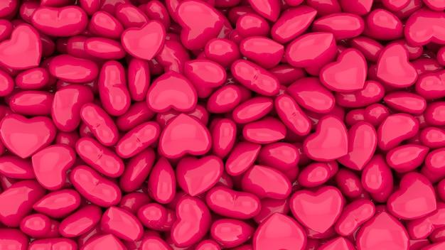 Assortiment de coeurs roses