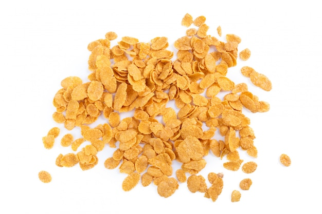 Assortiment de corn flakes isolé