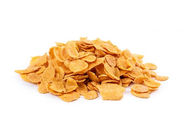 Assortiment de corn flakes isolé