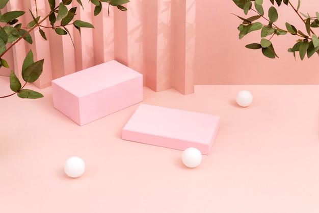 Assortiment créatif de scène minimaliste