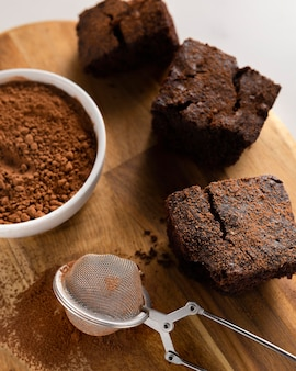 Assortiment de délicieuses recettes saines au cacao